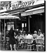 Paris Street Cafe - Le Malakoff Canvas Print