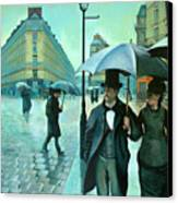 Paris Street Rainy Day Canvas Print by Jose Roldan Rendon