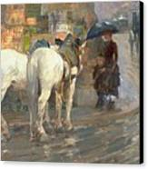 Paris Street Scene Canvas Print