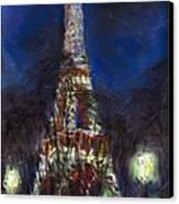 Paris Tour Eiffel Canvas Print by Yuriy  Shevchuk