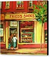 Park Avenue Shoe Store Canvas Print