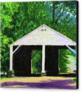 Park Covered Bridge Canvas Print