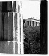 Parthenon From The Temple Of Hephaistos Athens Canvas Print