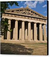 Parthenon Nashville Tennessee From The Shade Canvas Print
