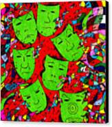 Party Of Seven Canvas Print by Teddy Campagna