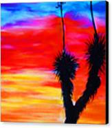Paso Del Norte Sunset 1 Canvas Print