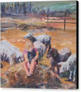 Pasture Acquaintances Canvas Print