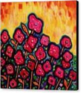 Patchwork Poppies Canvas Print by Brenda Higginson