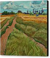 Path Through A Wheat Fields Canvas Print