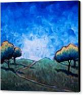 Path Through Las Trampas Canvas Print by Sheila Tajima