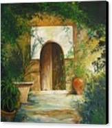 Patio Mallorquin Canvas Print