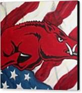 Patriot Hog Canvas Print