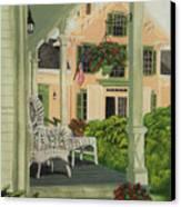 Patriotic Country Porch Canvas Print