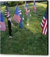Patriotic Lawn Ornaments Represent Canvas Print by Stephen St. John