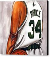 Paul Pierce - The Truth Canvas Print by Dave Olsen