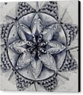 Paynes Gray Mandala2 Canvas Print