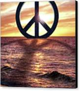Peace On The Shoreline Canvas Print