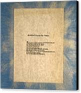 Peace Prayers - Buddhist Prayer For Peace Canvas Print