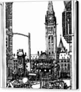 Peace Tower Parliament Hill Ottawa 1995 Canvas Print