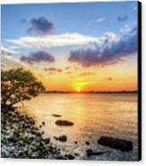 Peaceful Evening On The Waterway Canvas Print