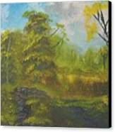 Peaceful Land 12x24 By Artist Bryan Perry Canvas Print by Bryan Perry