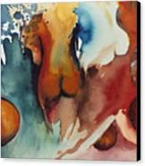 Peaches Canvas Print by Laura Joan Levine