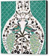 Peacock Love-2 Canvas Print by Karunita Kapoor