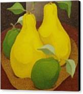 Pears And Apples  2006 Canvas Print