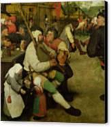 Peasant Dance Canvas Print by Pieter the Elder Bruegel