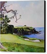 Pebble Beach Gc 5th Hole Canvas Print by Scott Mulholland