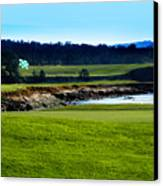 Pebble Beach Golf Links No 18 Canvas Print by Lyle  Huisken