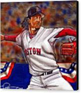Pedro Martinez Canvas Print by Dave Olsen
