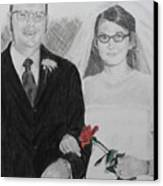 Peggy And John Taylor Wedding Portrait Canvas Print