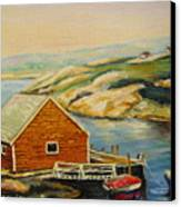 Peggys Cove  Harbor View Canvas Print