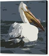 Pelican Cut Out Canvas Print