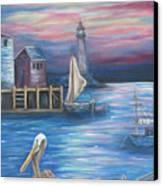 Pelican Port Canvas Print