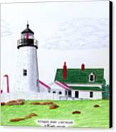 Pemaquid Point Lighthouse Canvas Print by Frederic Kohli