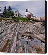 Pemaquid Reflections Canvas Print by M S McKenzie
