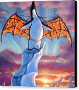 Penguin Wings Canvas Print by Michael Orwick