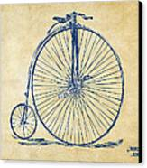 Penny-farthing 1867 High Wheeler Bicycle Vintage Canvas Print by Nikki Marie Smith