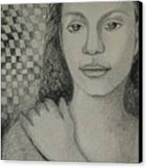 Pensiveness Canvas Print