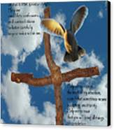 Pentecost Holy Spirit Prayer Canvas Print by Robyn Stacey