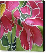Peonies In The Garden Canvas Print by Joanna White