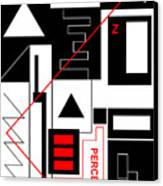 Perception I - Text Canvas Print