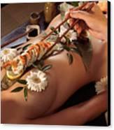 Person Eating Nyotaimori Body Sushi Canvas Print by Oleksiy Maksymenko