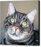 Pet Portrait Painting Commission Tiger Cat Canvas Print