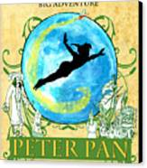 Peter Pan Tribute Canvas Print