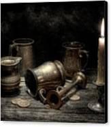 Pewter Still Life I Canvas Print by Tom Mc Nemar