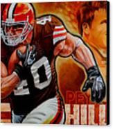 Peyton Hillis Canvas Print by Jim Wetherington