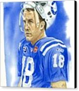 Peyton Manning - Heart Of The Champion Canvas Print